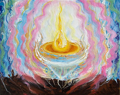 Prophetic Painting - Prophetic Message Sketch Painting 27 It Takes One Person by Anne Cameron Cutri