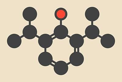 Propofol Anesthetic Drug Molecule Art Print by Molekuul
