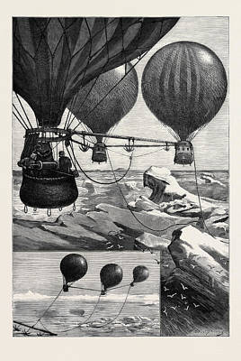 Methods Drawing - Proposed Method Of Reaching The North Pole By Balloons by English School