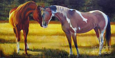 Painting - Propositioning The Paint by Pat Burns