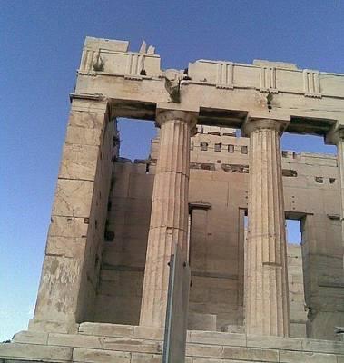 Photograph - Propylee On Parthenon by Katerina Kostaki