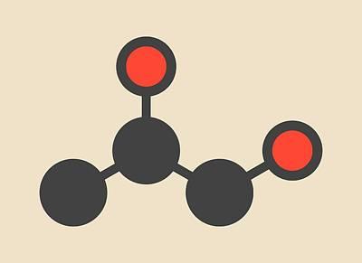 Propane Photograph - Propylene Glycol Molecule by Molekuul
