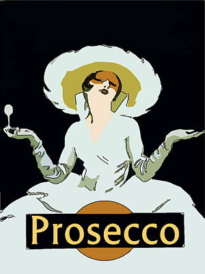 Prosecco Art Print by Fig Street Studio