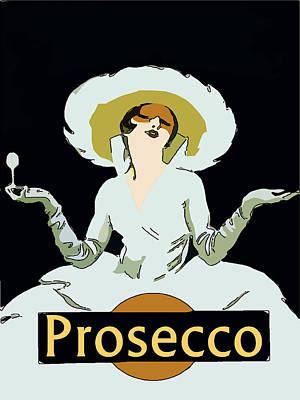 Prosecco Digital Art - Prosecco by Fig Street Studio