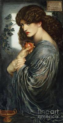 Silk Painting - Proserpine by Dante Charles Gabriel Rossetti
