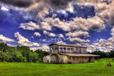Photograph - Prospect Barn In A Cloud Filled Sky  by Reid Callaway