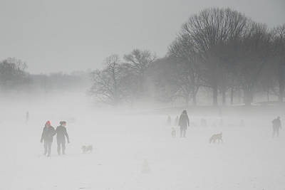 Photograph - Prospect Park Brooklyn In Winter by Julie VanDore