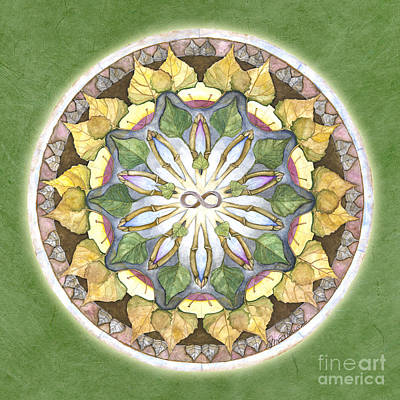 Prosperity Mandala Art Print by Jo Thomas Blaine
