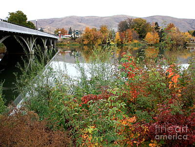 Photograph - Prosser - Autumn Bridge by Carol Groenen