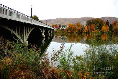 Prosser Bridge In Autumn Art Print by Carol Groenen