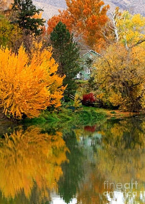 Photograph - Prosser - Fall Reflection With Hills by Carol Groenen