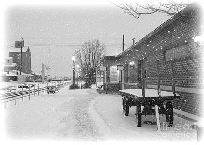 Photograph - Prosser Winter Train Station  by Carol Groenen
