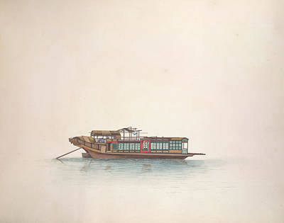 Watercolour Photograph - Prostitutes Boat by British Library