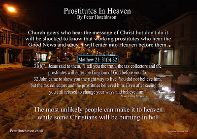 Photograph - Prostitutes In Heaven by Bible Verse Pictures