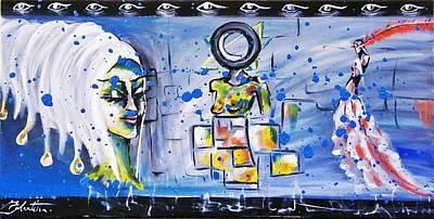 Surrealist Painter Mixed Media - Prostitution by Eglantina Becheru