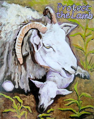 Painting - Protect The Lamb by Edith Hunsberger
