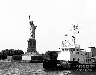Protecting Lady Liberty Art Print by Robert Yaeger
