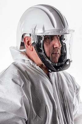 Protective Safety Clothing Art Print by Crown Copyright/health & Safety Laboratory Science Photo Library