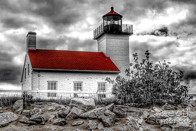 Nikki Vig Royalty-Free and Rights-Managed Images - Protector of the Harbor - Sand Point Lighthouse by Nikki Vig