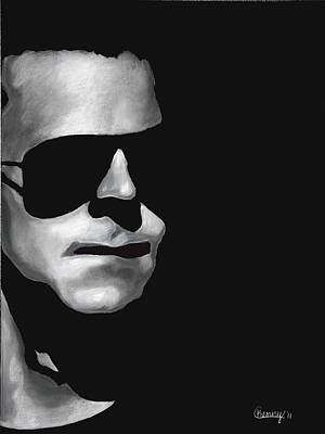 Aviator Glasses Drawing - Protectore by Courtney Kenny Porto
