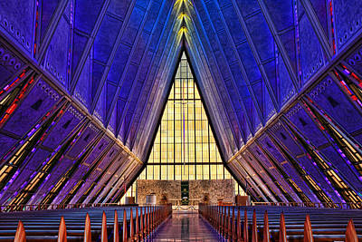 Photograph - Air Force Academy Protestant Chapel  by Allen Beatty