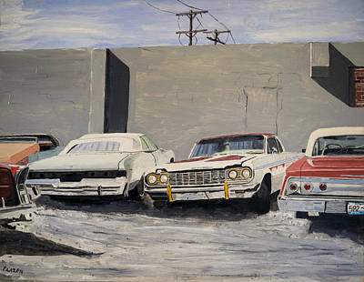 Low Rider Painting - Proto Low Riders by Patricio Lazen