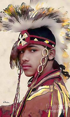 Powwow Photograph - Proud Indian Boy by Linda  Parker