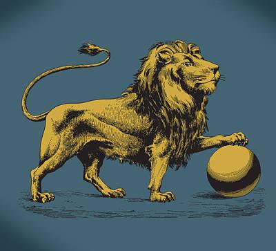 Proud Lion Art Print by Viv Griffiths