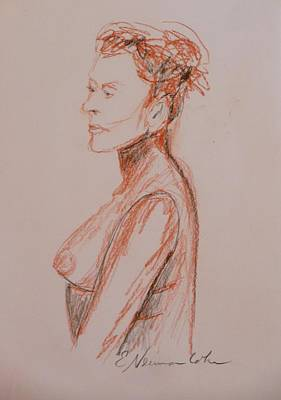 Drawing - Proud Older Nude by Esther Newman-Cohen