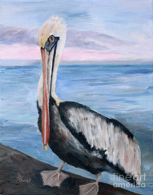 Painting - Proud Pelican by Brenda Thour