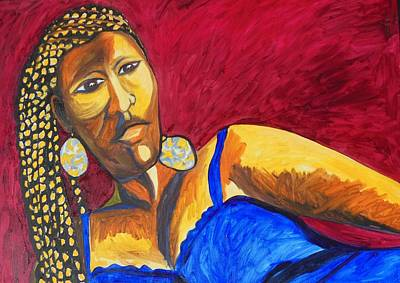 Painting - Proud Sheruba Ethiopian Braids by Esther Newman-Cohen
