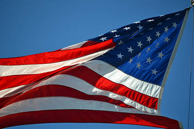 Proudly She Waves - Old Glory Art Print by rd Erickson