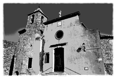 Provencal Church  Art Print