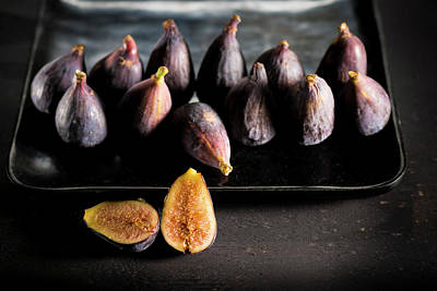 Provence Black Figs On A Baking Tray Art Print