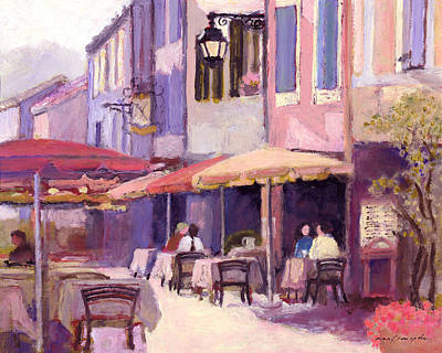 Painting - Provence Cafe by J Reifsnyder