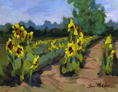 Painting - Provence Sunflower Field by Diane McClary