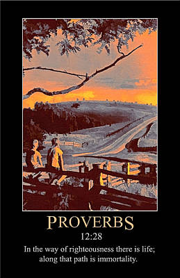 Digital Art - Proverbs 12 by John Haldane