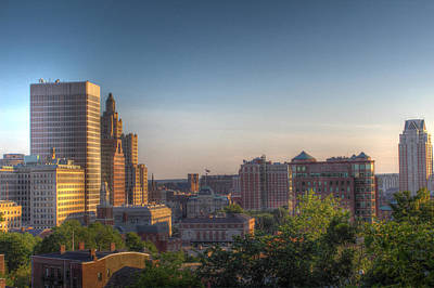 Photograph - Providence From Prospect Park by Andrew Pacheco
