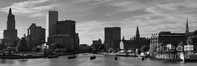 Photograph - Providence Panorama I Bw by Dave Gordon