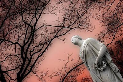 Providence Rhode Island Cemetery Series Original by John Hanou