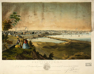 Rhythm And Blues Drawing - Providence, R.i., Harbor View, Taken From The Grounds by Litz Collection