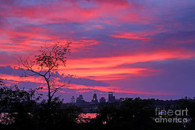 Photograph - Providence Ri Sunset by Butch Lombardi