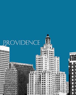 Providence Skyline 1 - Steel Art Print by DB Artist