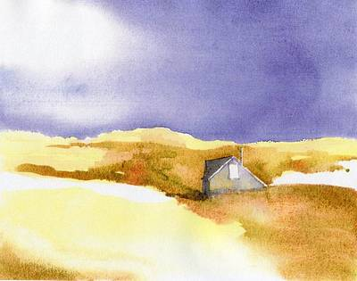 Cape Cod Painting - Provincetown Dune Shack by Joseph Gallant