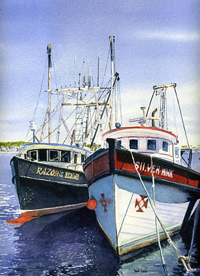 Cape Cod Painting - Provincetown Fishing Boats by Heidi Gallo