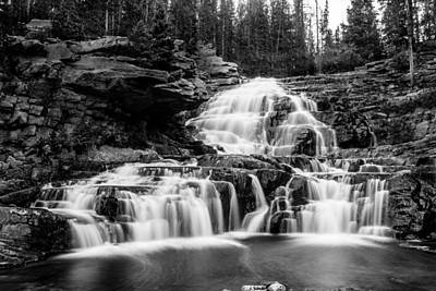 Photograph - Provo River Falls #1 by TL  Mair