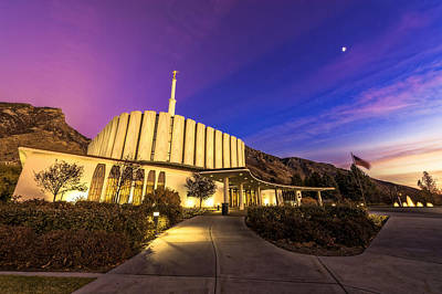 Photograph - Provo Temple by Dustin  LeFevre