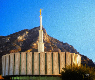Painting - Provo Temple Impressionist by David Millenheft