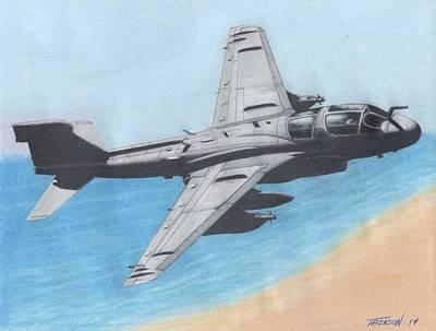 Prowler Drawing - Prowler Leads The Way by Anthony Benson