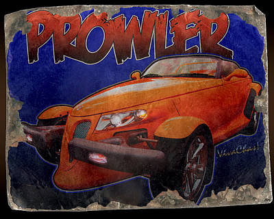 Prowler Tin Sign Discovered In 2153 Art Print